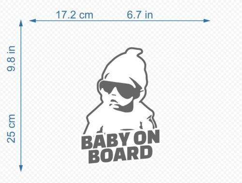 Baby On Board Vinyl Stickers Decal HQ For Cars Walls Windows BB101