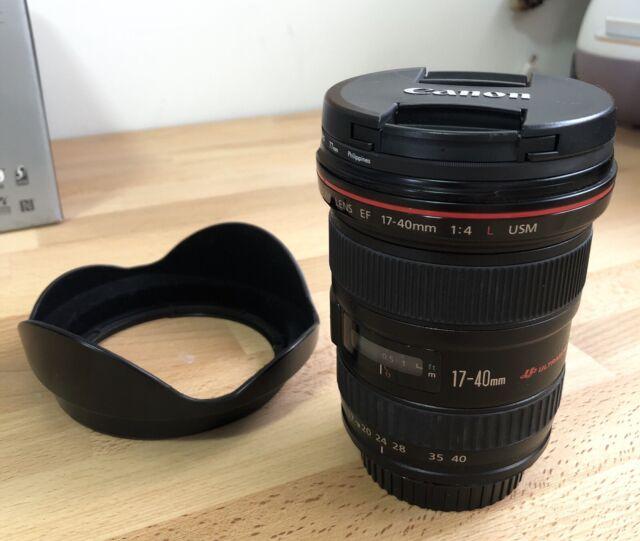 Objetiva Canon EF 17-40mm F/4 L USM - Usada - lojaportssar