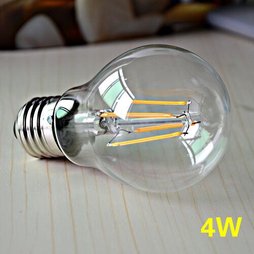 E27 Retro Bulb LED Light COB Edison Filament dimmable Lamp 4W 6W 8W AC110V//220V