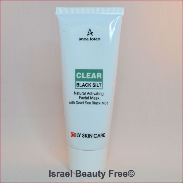 Anna Lotan Clear Black Silt Natural Activating Mask with Dead Sea Black Mud 90 g