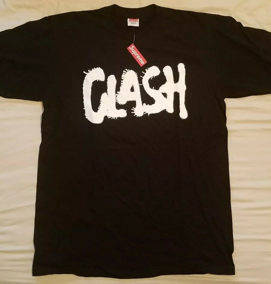 Supreme THE CLASH I FOUGHT THE LAW TEE New with Tag Rare