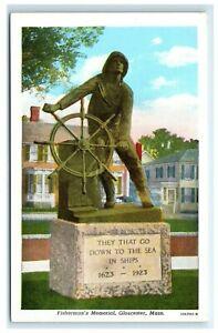 Postcard-Fisherman-039-s-Memorial-Gloucester-MA-G28