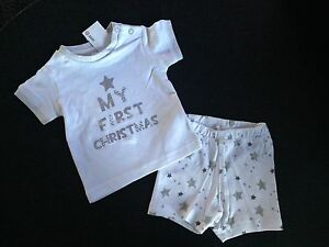 Generous Baby Girls Boys Size 000 My First Christmas Summer Pyjamas New Pjs Cotton Unisex Clothing, Shoes & Accessories Outerwear