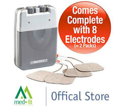 Med-Fit 1 Dual Channel Tens Machine-Fast Effective Pain Relief with 8 Electrodes