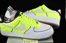 2007 NIKE AIR FORCE 1 LOW SUPREME I/O TALARIA DS SIZE 10 NEON YELLOW NEW CAMO