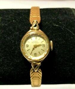 Vintage-Girard-Perregaux-10K-Yellow-Gold-filled-17J-manual-wind-women-039-s-watch