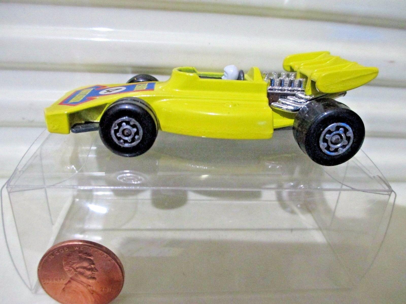 LESNEY MATCHBOX RARE 1973 MB24B giallo Team Matchbox  4 Lbl Car Nu Mint Pvc Bxd
