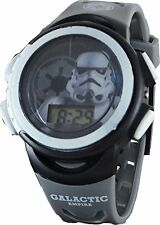Star Wars Storm Trooper LCD Watch with Flashing Lights - Grey Band STM3466