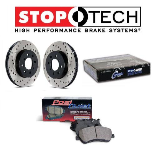 StopTech Rear Drilled Brake Rotors /& PQ Ceramic Pads Set For Nissan Infiniti