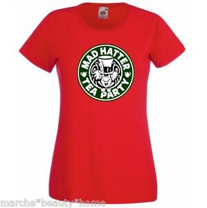 MAD HATTER tea party alice in wonderland t-shirt red new fotl  fun top medium