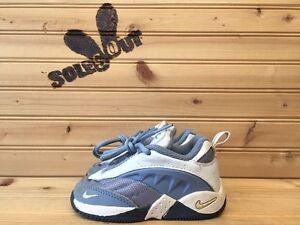 2000-Little-Nike-Sever-Max-Cross-Training-Shoes-sz-5c-Lemonade-Blue-Infant
