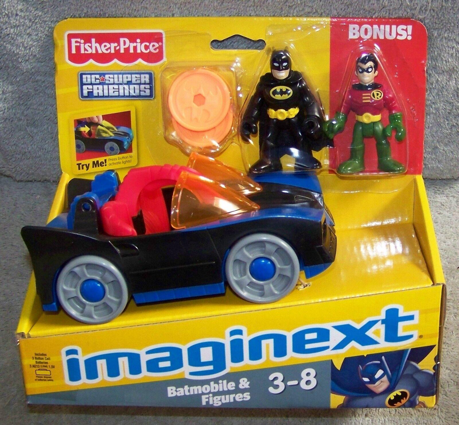 IMAGINEXT 2012 2013 DC DC DC SUPER FRIENDS BATMOBILE WITH BATMAN & ROBIN BONUS b44748