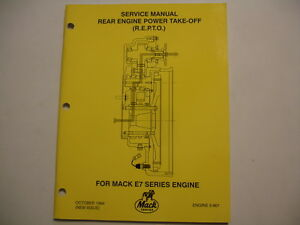 Mack Truck Mid-Liner Rear E7 Engine Power Take-Off R E P T O