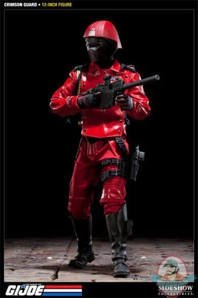 Crimson Guardia G.I. Joe Figura De 12  Pulgadas por Sideshow Collectibles utilizado JC