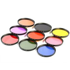 9pcs 67mm Full Color ND Lens Filter Kit For Nikon D7000 D5100 D90 D60 D70 18-105