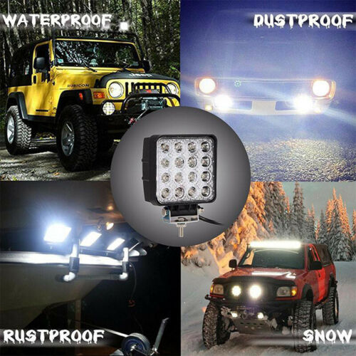 4 Inch 48W LED Work Light Truck OffRoad Tractor Spot Lights 12V 24V SquarHC