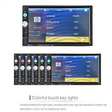 7'' 2DIN HD Bluetooth GPS Touch Screen Car Audio Stereo Radio MP5 Player AUX