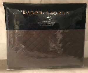 1-Ralph-Lauren-Wyatt-Quilted-Standard-Pillow-Sham-Metallic-Gray-MSRP-130
