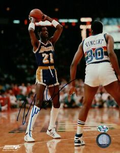 Michael-Cooper-Signed-8X10-Autograph-Photo-Blue-Ink-vs-Nuggets-Sportsbuy-COA