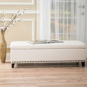 Bed Bench End Storage Cushion Foot King Size Upholstered Bedroom Hallway Foyer Ebay