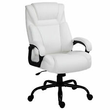 High Back Computer Desk Chair With Adjustable Height And Ergonomic Design White