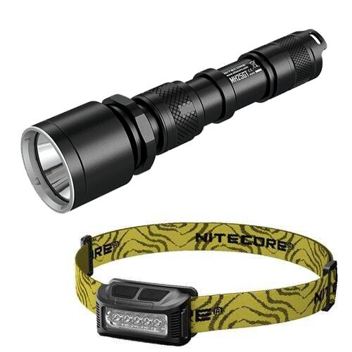 Nitecore MH25GT Rechargeable  Flashlight  w  NU10 Rechargeable Headlamp  sale