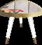 Boîte de réception Imprimé Côté table Décoration table de café Lampe de bureau. vintage fin de table