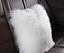 Real Mongolian Tibetan Lamb Fur Pillow Cushion Cover Pillowcase White Luxurious