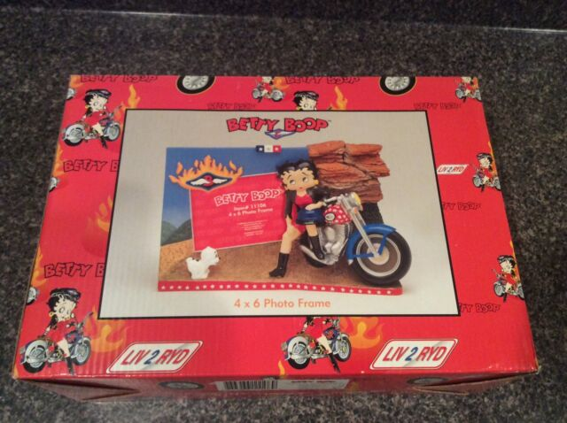 Betty Boop Photo Frame 4x6 Picture Frames Motorcycle Rare Hard To