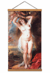Rubens-Andromeda-Greek-Myth-Painting-Canvas-Wall-Art-Print-Poster-with-Hanger