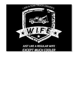 Portrait Sticker Latest Tow Truck Driver Wife Flag Sticker Portrait