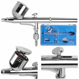 Dual-Action-Airbrush-Gun-0-3mm-Nail-Art-Paint-Spray-Makeup-Gravity-Feed-Hobby
