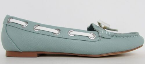 Anthropologie Marco Santi Megan Blue White Stitch Bow Oxford Loafers Flats Shoes
