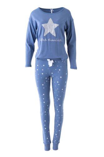 """LOUIS /& LOUISA /"""" Einfach Himmlisch /"""" Pyjama Glitzerstern blau Gr L NEU XS"""