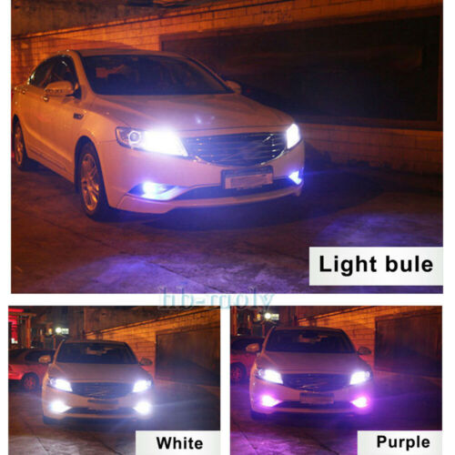 2x LED Remote Control 5050 RGB Color Changing Car H3 12SMD Head Fog Lights Bulbs