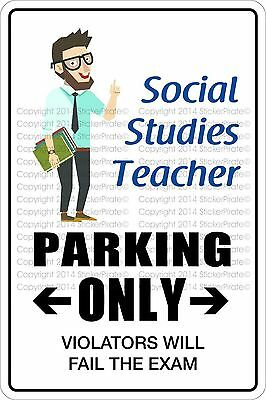 "5901 SS Elementary School Teacher 4/"" x 18/"" Novelty Street Sign Aluminum"