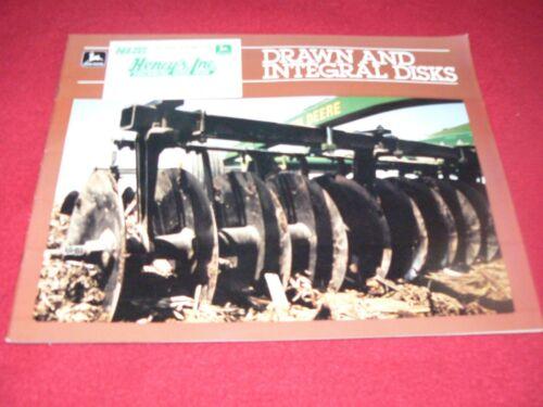 John Deere Drawn /& Integral Disks Dealer/'s Brochure A-7-85-10