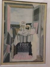 """Pablo Picasso Looking though the window of Saint Raphael Print S/N 11""""x15"""""""