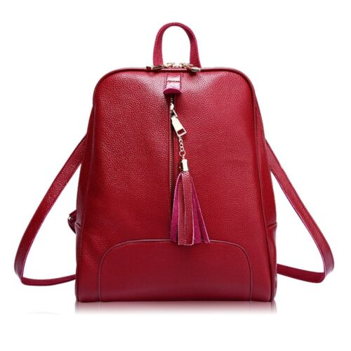 Leisure Young Women Vintage Travelling Pu Leather Backpack Girls School Bags