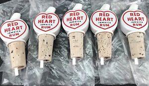 Bundle-Of-5-Porcelain-Red-Heart-Rum-Pourers