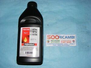 FIAT-500-F-L-R-126-EPOCA-OLIO-FRENI-FERODO-DOT-4-OTTIMA-QUALITA-CONFEZIONE-1L