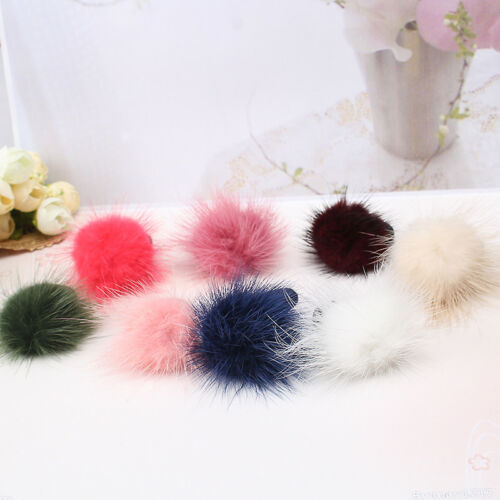 Kids Baby Elastic Hairband Hair Clip Pom Pom Fur Ball Hair Accessories 1pc uk