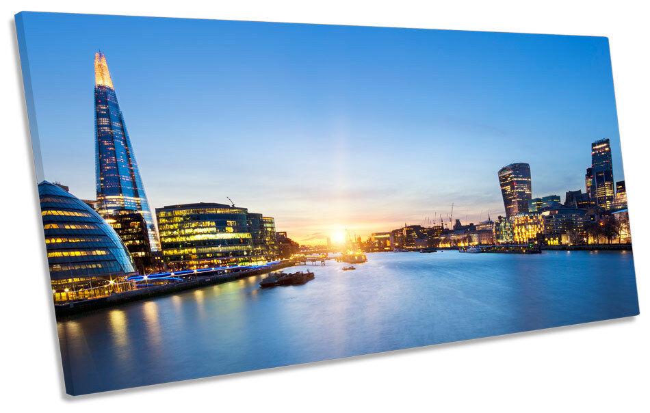 London Skyline Ciudad Ciudad Ciudad Sunset Azul panorámicas de LONA parojo arte enmarcado impresión d0a8ce