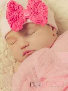 8961c72f6d9 Image is loading INFANTEENIE-BEENIE-BABY-GIRL-HAT-newborn-baby-newborn-