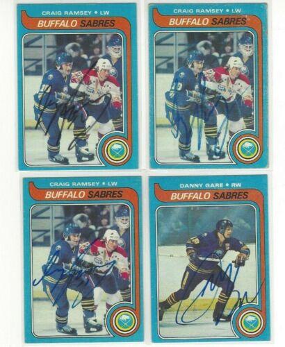 1979-80 Topps #207 Craig Ramsay Signed Hockey Card Buffalo Sabres