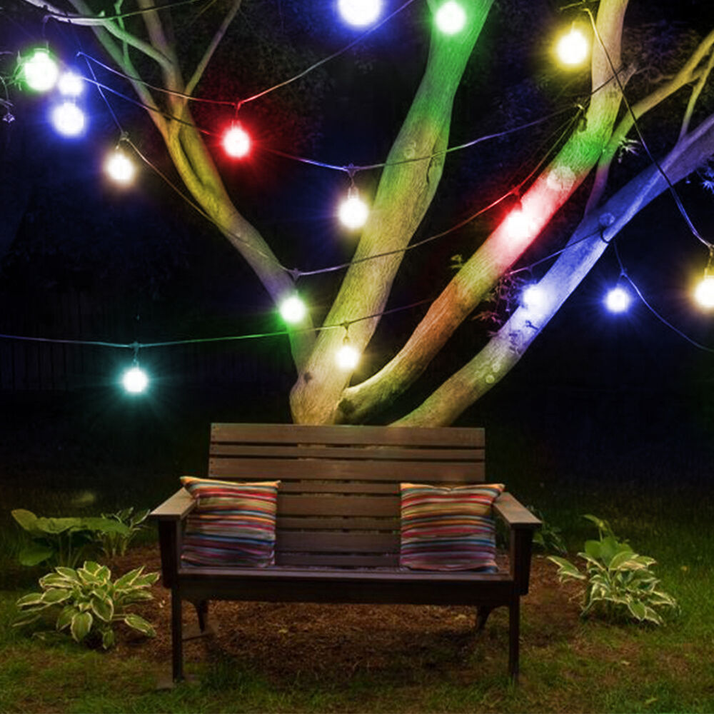 10 led Solar Powered Retro Bulb String Lights Garden Outdoor Fairy Summer Lamp eBay