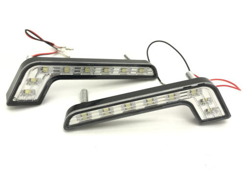 Fits VW Transporter T5 Chrome High Power  L Shape DRL LED Daytime Running Lights