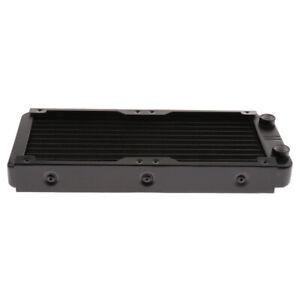 Computer-Water-Liquid-Cooler-Cooling-Aluminum-Radiator-10Pipe-Screw-240mm