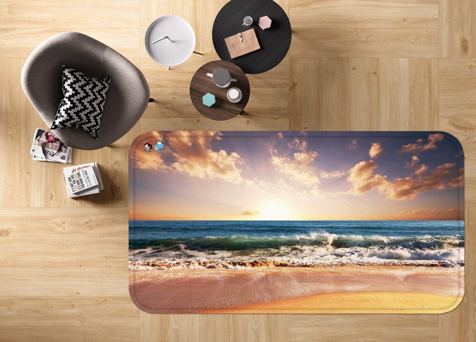 3D Clouds Sky Sea 542 Non Slip Rug Mat Room Mat Quality Elegant Photo Carpet US