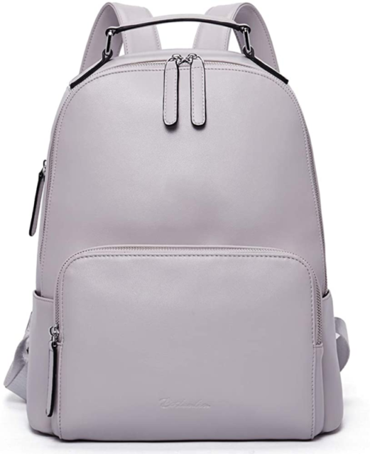 Black Kattee Womens Anti-Theft Backpack Purse Genuine Leather Shoulder Bag Fashion Ladies Satchel Bags